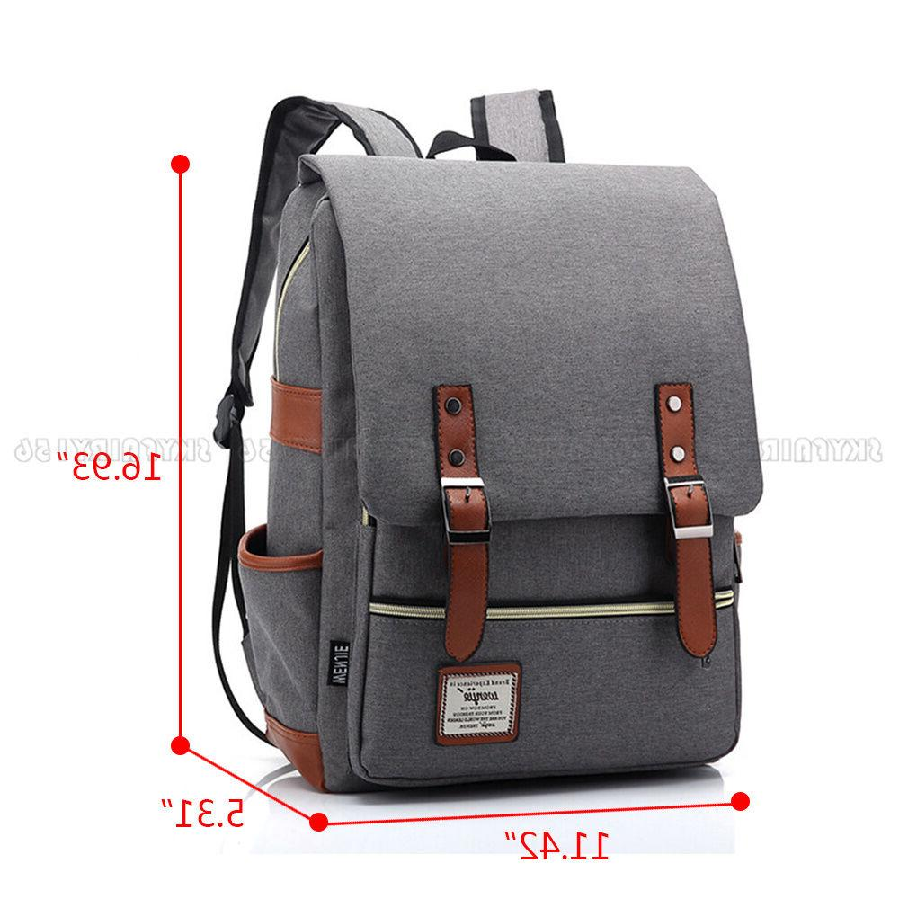 Canvas Leather Rucksack School for