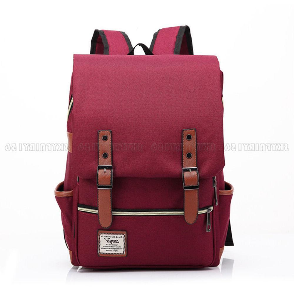 Canvas Rucksack Laptop School Bag for