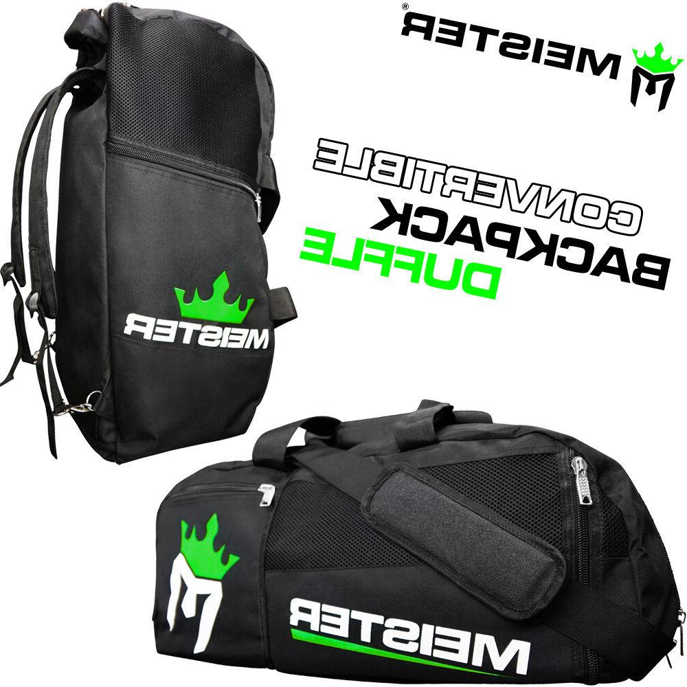 Meister Gym Bag Vented Convertible Backpack Duffel - Black