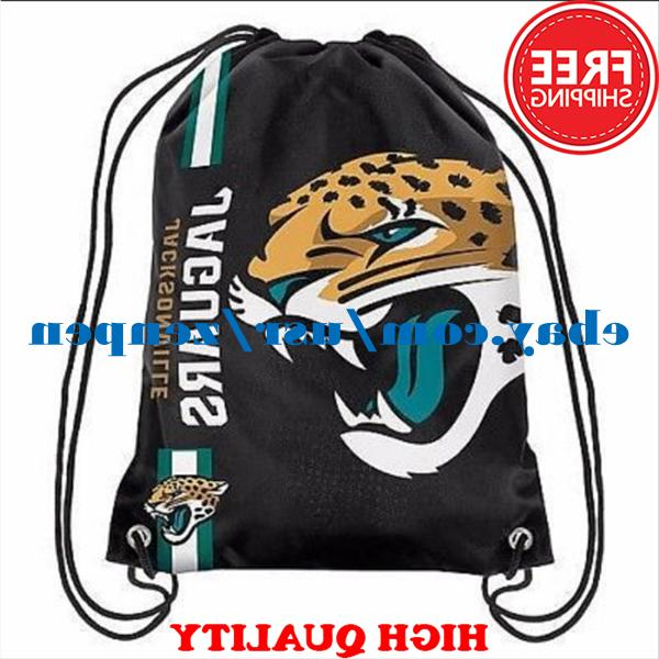 Jacksonville Jaguars Logo Drawstring Backpack Fan Gym Sport
