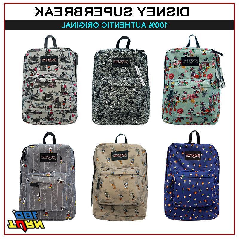 jansport superbreak mickey goofy pluto donald backpack