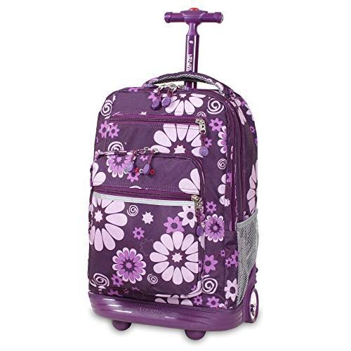 jworld laptop rolling backpack