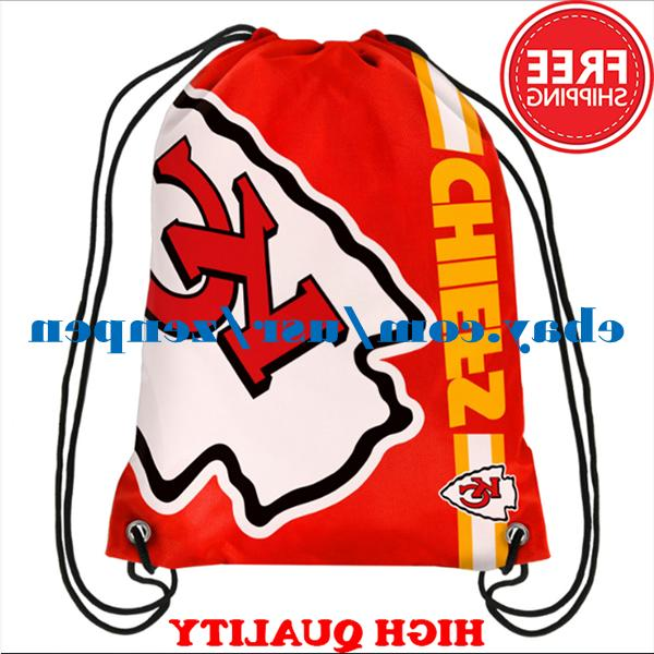 Kansas City Chiefs Logo Drawstring Backpack Fan Gym Sport Ba