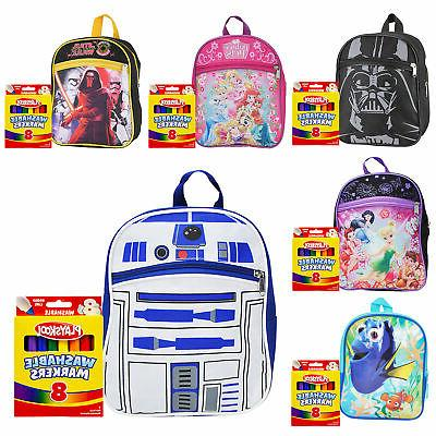 kids mini backpack 10 and markers 8pk