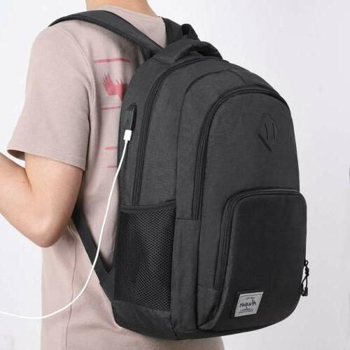 Computer Backpack for Travel with USB Charging Port