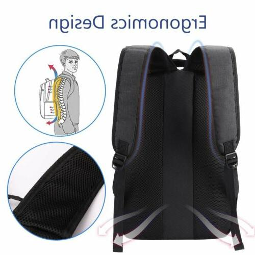 Laptop 15.6 Computer Backpack Travel with USB Charging