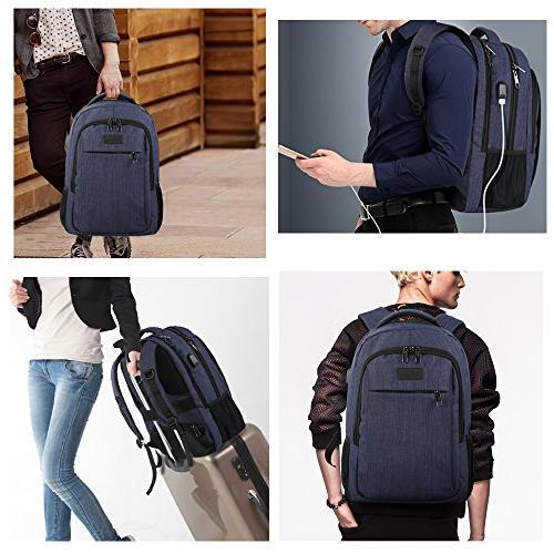 Laptop with Charging Travel with Men Women,Water Resistant College School Bag Laptop,Macbook