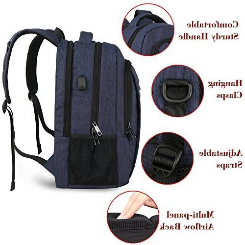 Laptop Backpack with Men Resistant College School BookBag Computer Boys Fits Laptop,Macbook
