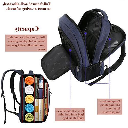 Charging Port,Slim Backpack with Men Resistant Bag Boys Fits Laptop,Macbook