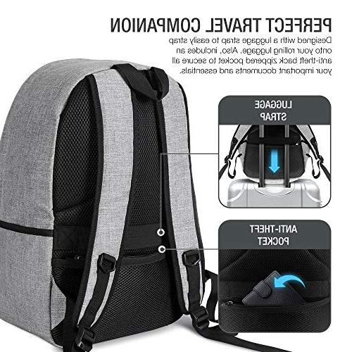 XDesign Travel with +Anti-Theft College Computer Bookbag for Women, Camping&Fits Up 16-inch Notebook -Grey