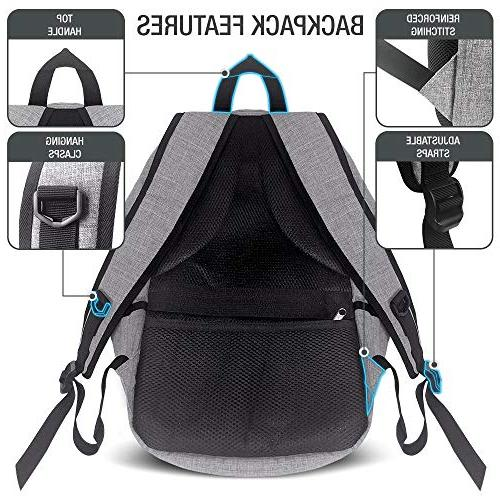 XDesign Travel with +Anti-Theft Lock College School for Camping&Fits Notebook -Grey
