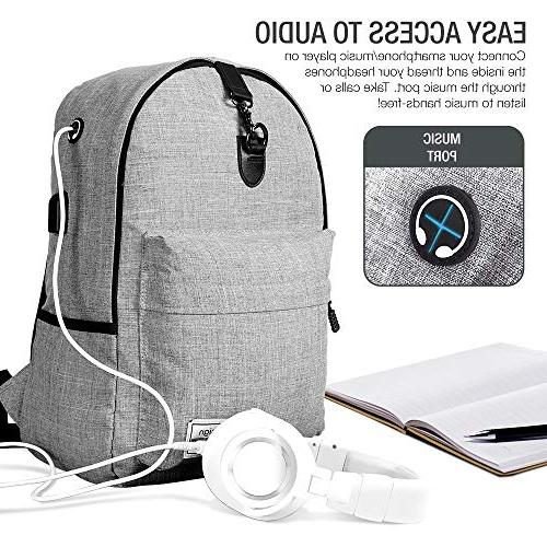 XDesign with USB Charging Port College School for Men, Camping&Fits to Notebook