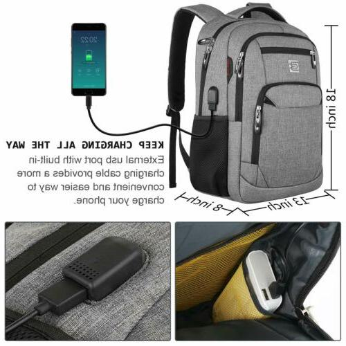 MARCELLO Business Travel Bag USB Port US