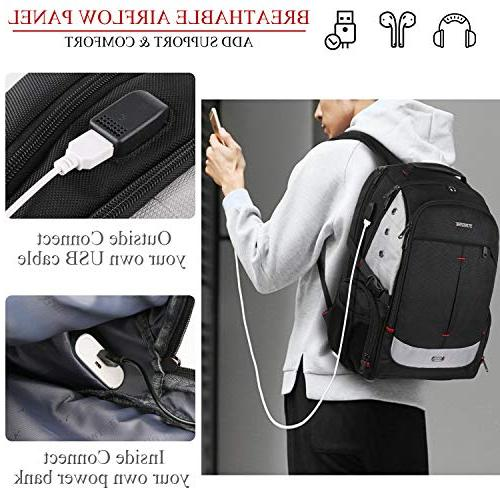 Large Backpack TSA Friendly Travel Laptop Backpacks Charging Port Women Resistant School Bookbag Fit Inch Notebook