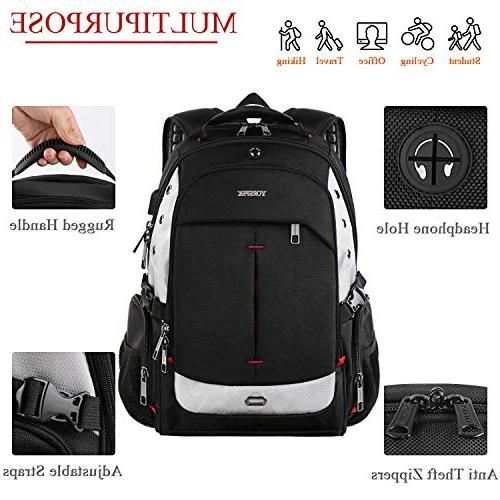 Large Laptop Backpacks Charging Women Bookbag Fit Notebook