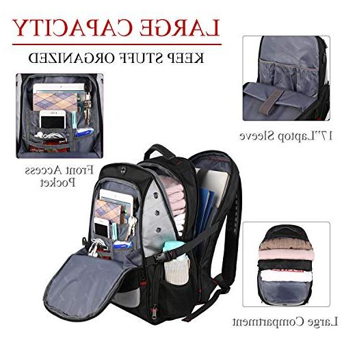 Large Backpack TSA Friendly Durable Travel Laptop Backpacks with Port and School Backpack Bookbag Inch Notebook