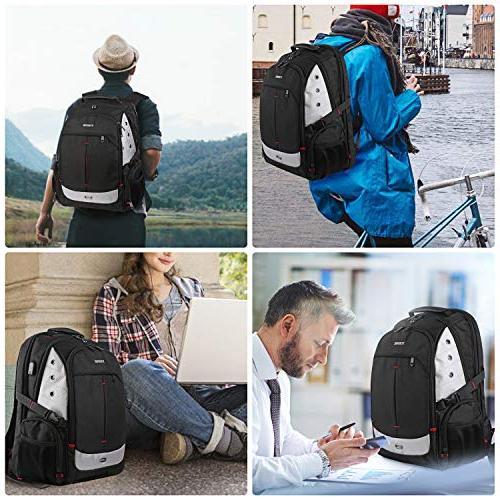 Large Friendly Backpacks Charging Port for Women School Backpack Business Bookbag Fit 17 Notebook