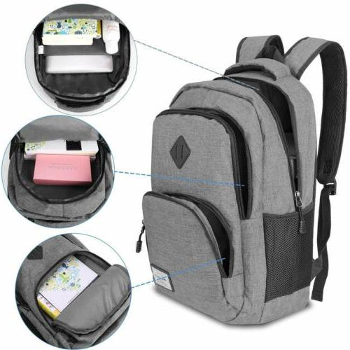 Laptop Backpack Backpack with USB Charging Port Anti Thief Waterproof