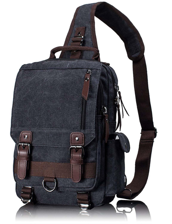 Leaper Messenger Sling Cross Body Bag Shoulder L