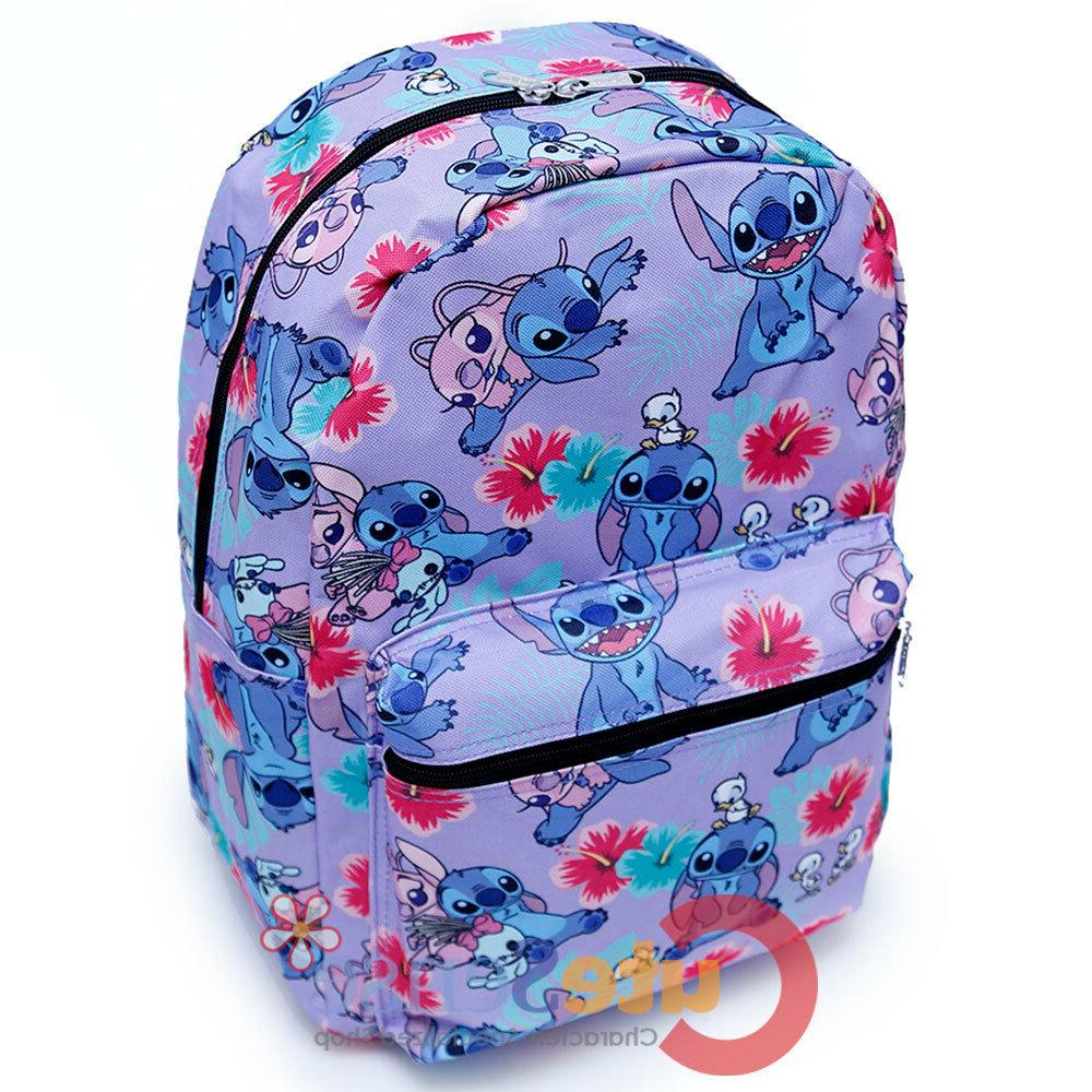 "Lilo and Large School with 16"" AOP Bag Purple"