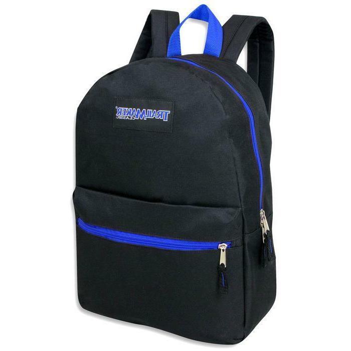 Lot 24 TrailMaker Inch Black Backpacks in Pop Color Trims