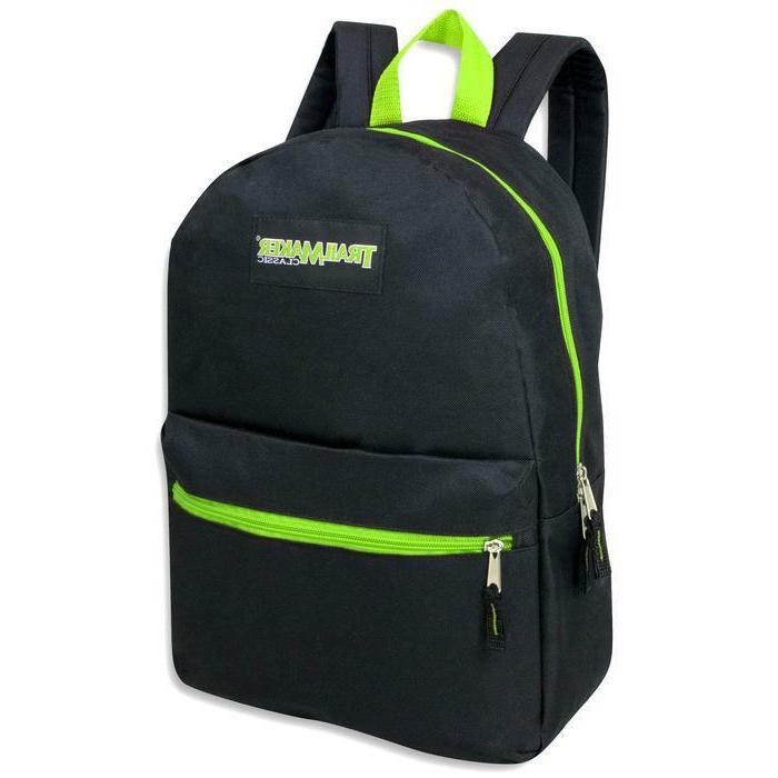 Lot of 24 Wholesale TrailMaker Inch Backpacks in Color Trims