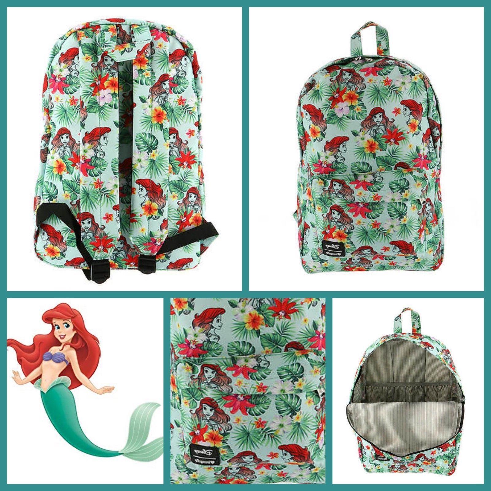 loungefly little mermaid backpack princess ariel tropical