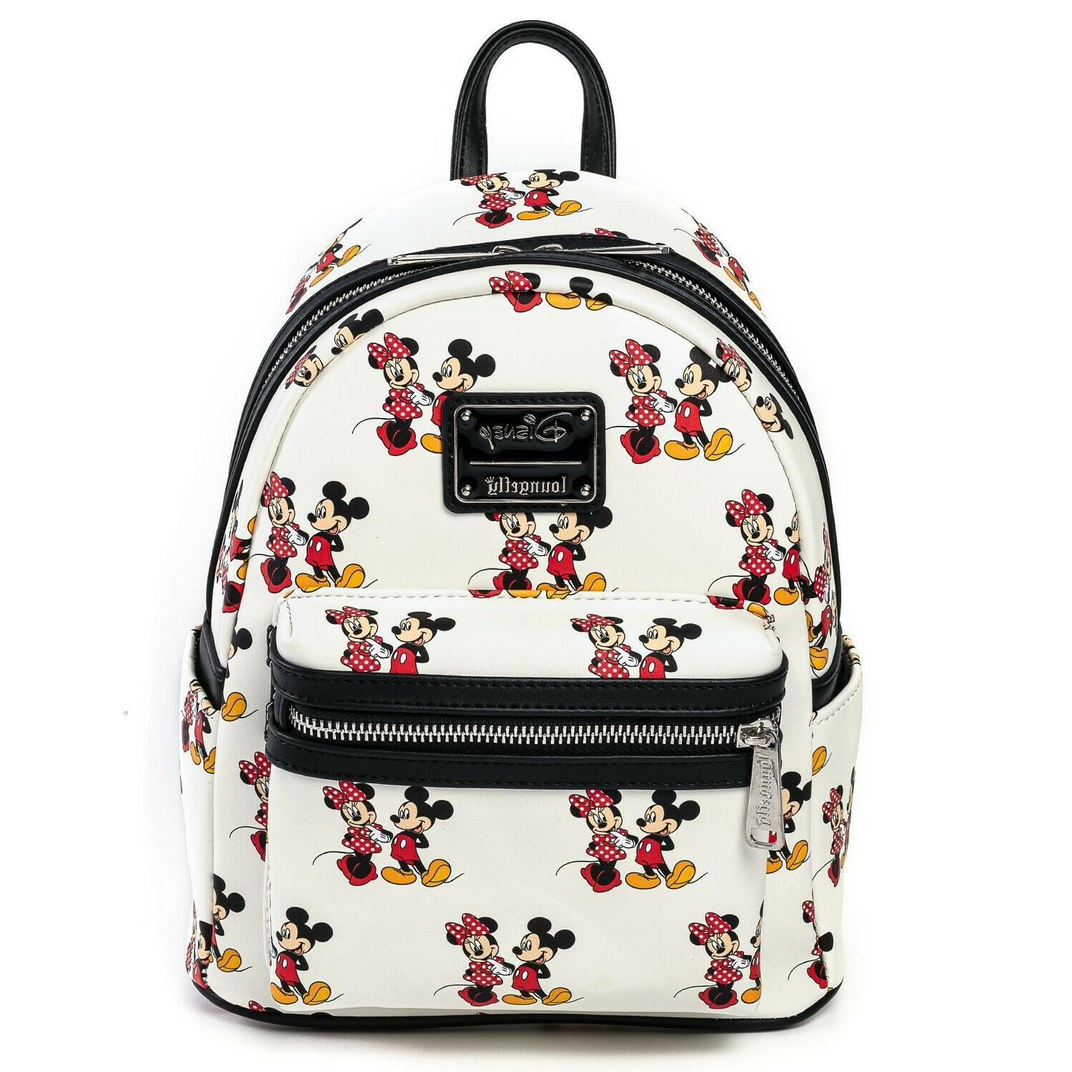 Loungefly Disney Mickey and Minnie Mouse All Over Print Mini