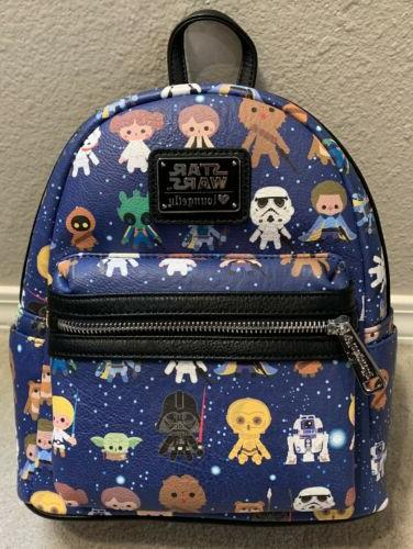 loungefly star wars chibi mini backpack awesome