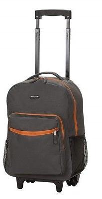 Luggage 17 Inch Backpack Wheeled School Bag Charcoal