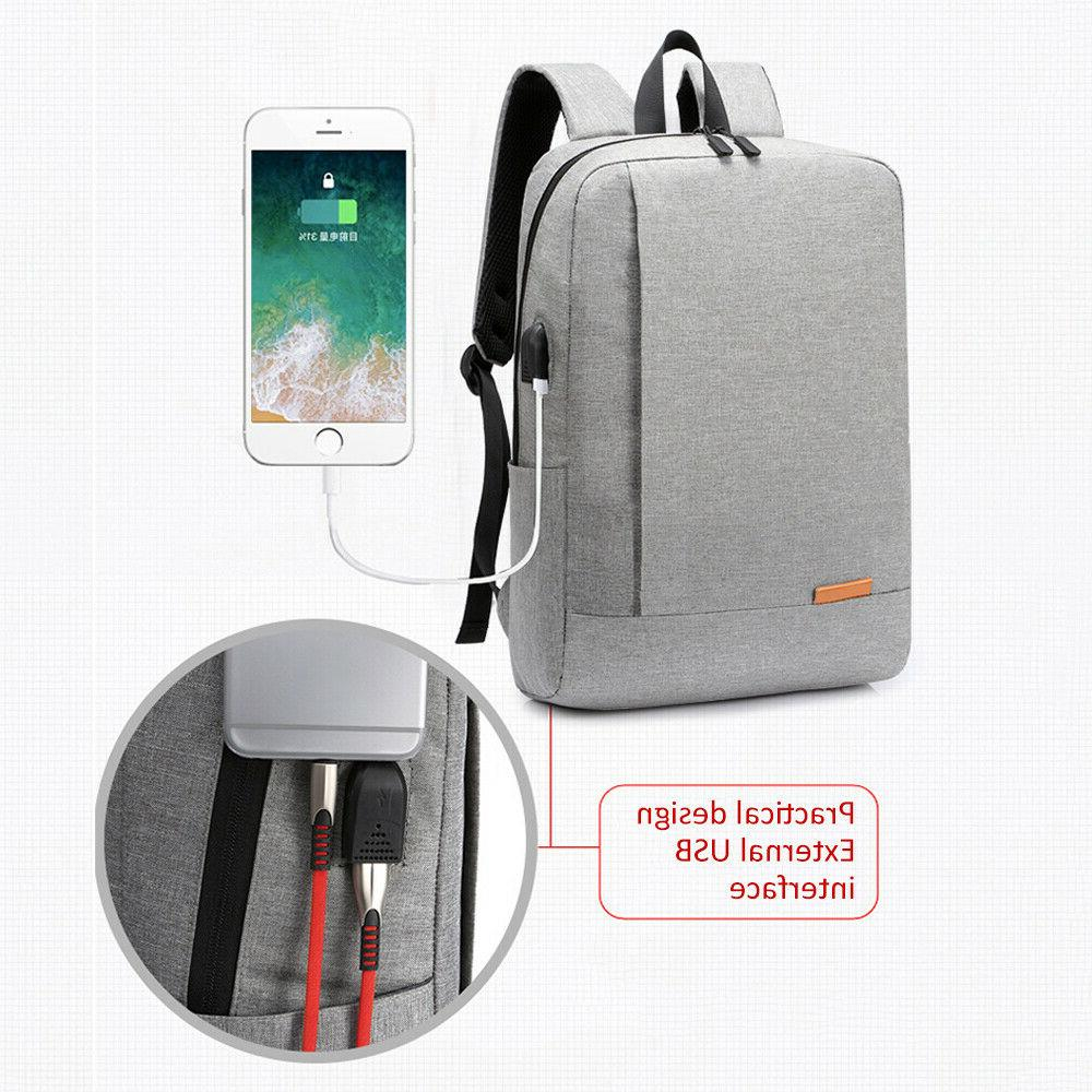 Men Charger Backpack Notebook Travel School