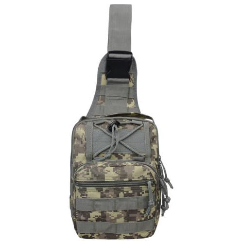 Men Molle Tactical Sling Chest Pack Messenger
