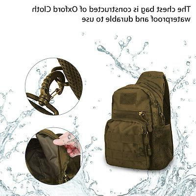 Men Backpack Tactical Sling Chest Bag