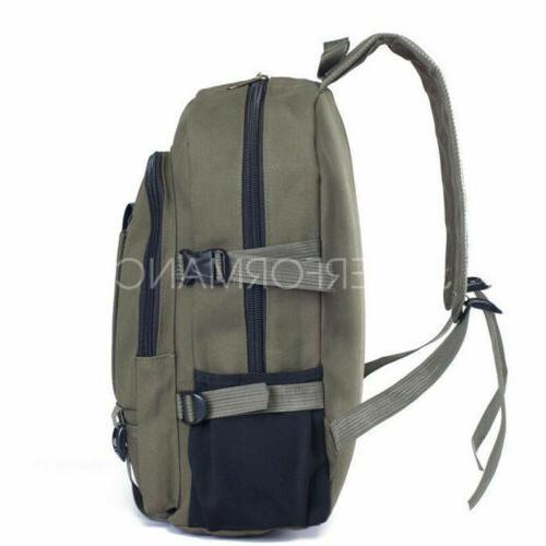Men Canvas Rucksack Travel Sport Hiking Schoolbag Laptop Bags