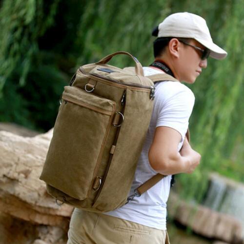 Men Shoulder Military Backpack Camping Travel Duffle Luggage Handbag