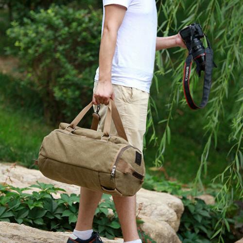 Men Canvas Bag Military Camping Duffle Luggage Handbag