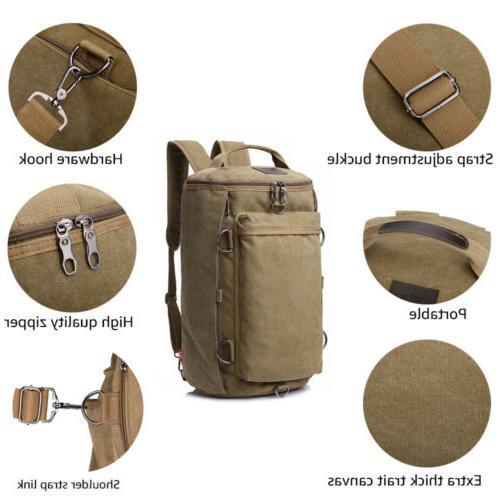 Men Canvas Military Camping Duffle Handbag
