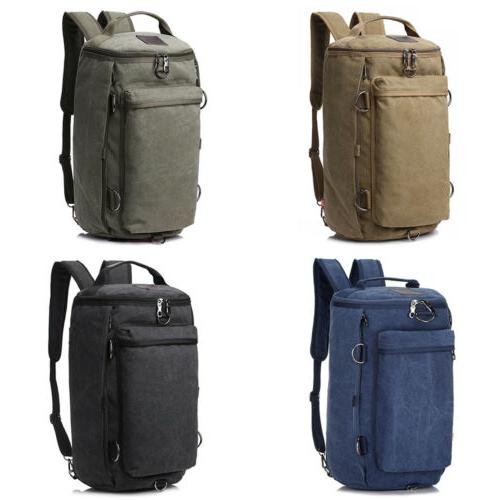 Men Canvas Shoulder Military Travel Duffle Handbag
