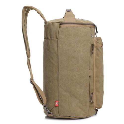 Men Canvas Military Camping Duffle Luggage Handbag