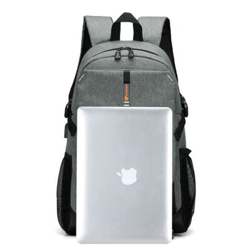 Men Laptop Backpack Travel Anti USB Charging