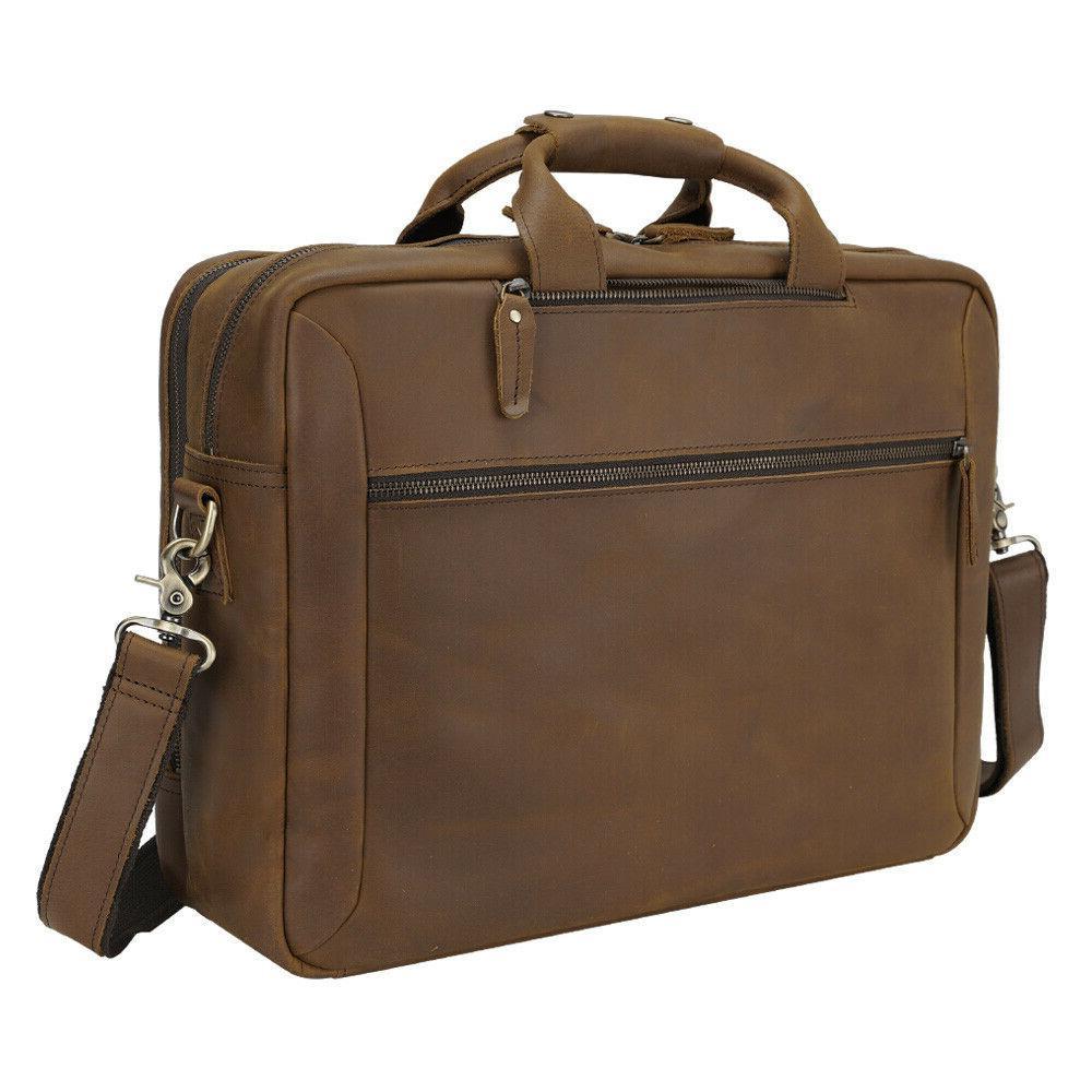 """Men 17"""" Laptop Briefcase Bag Shoulder Travel"""