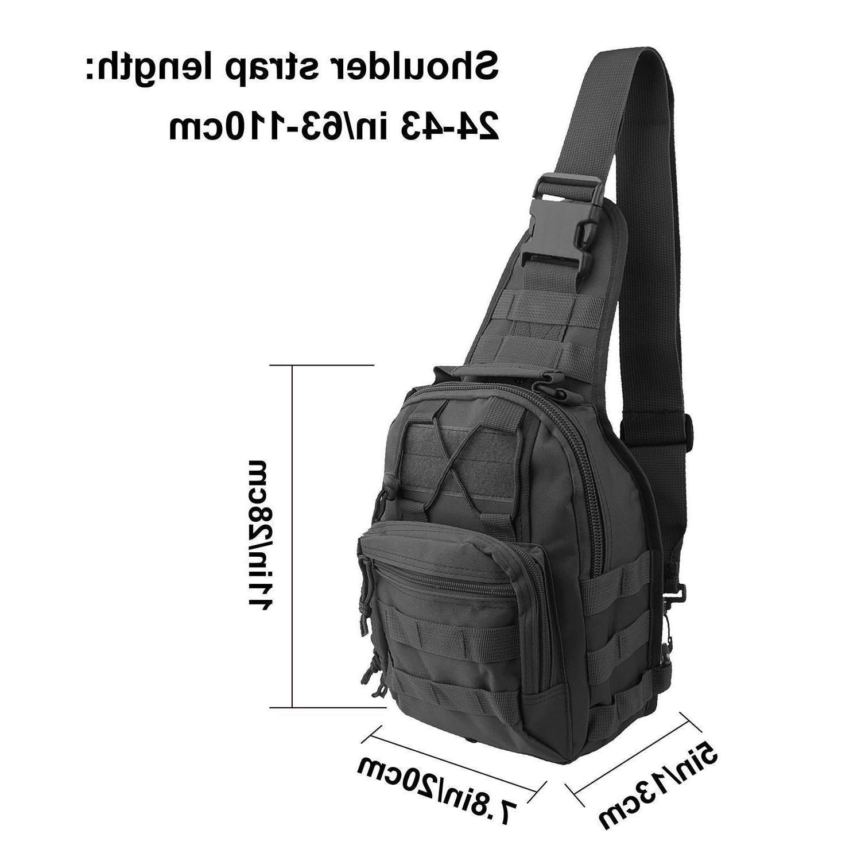 Men Molle Chest Messenger Bag Backpack