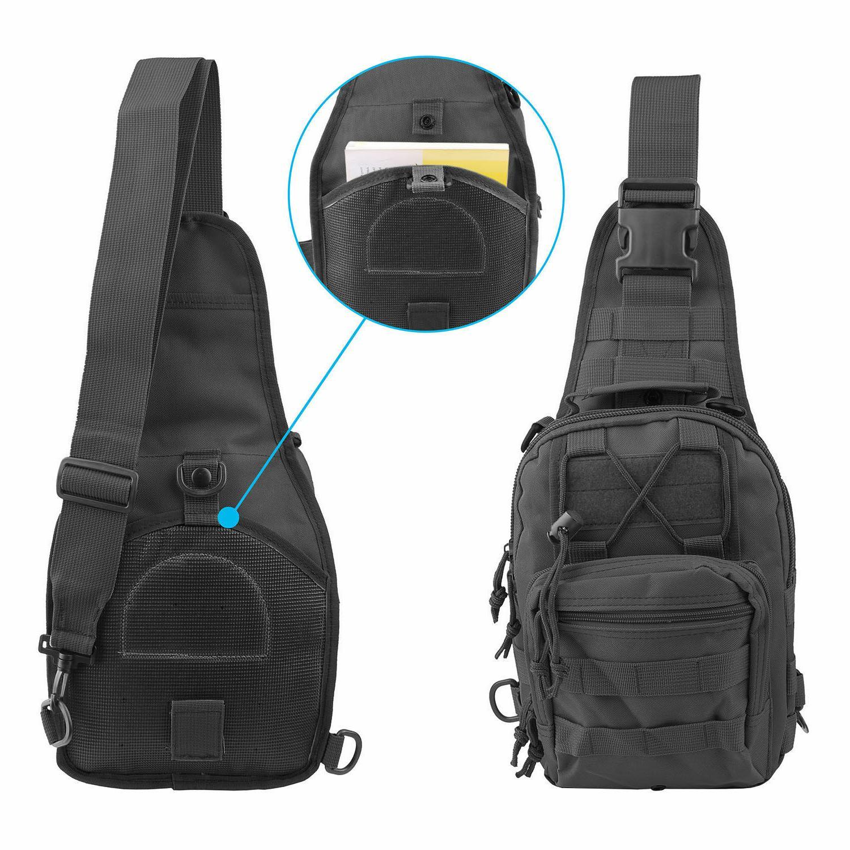 Men Molle Messenger Shoulder Bag Backpack
