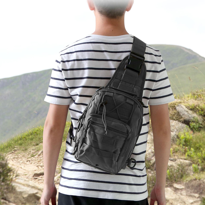 Men Molle Tactical Chest Bag Assault Messenger