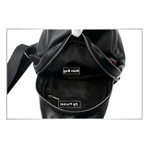 Men's Leather Chest Day Pack Sport Travel Toothless