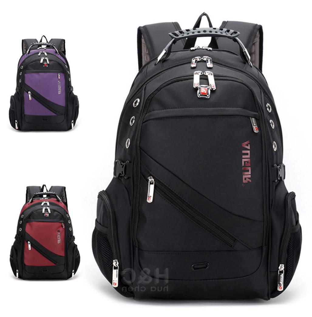 "Men's Travel Rucksack Notebook 15.6"" Laptop Backpack Hiking"