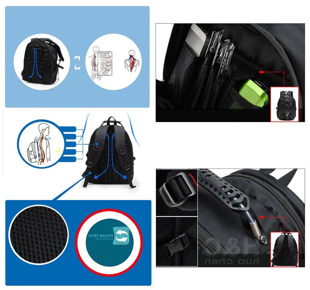 """Men's Travel 15"""" Laptop Backpack Shoulder Swiss"""