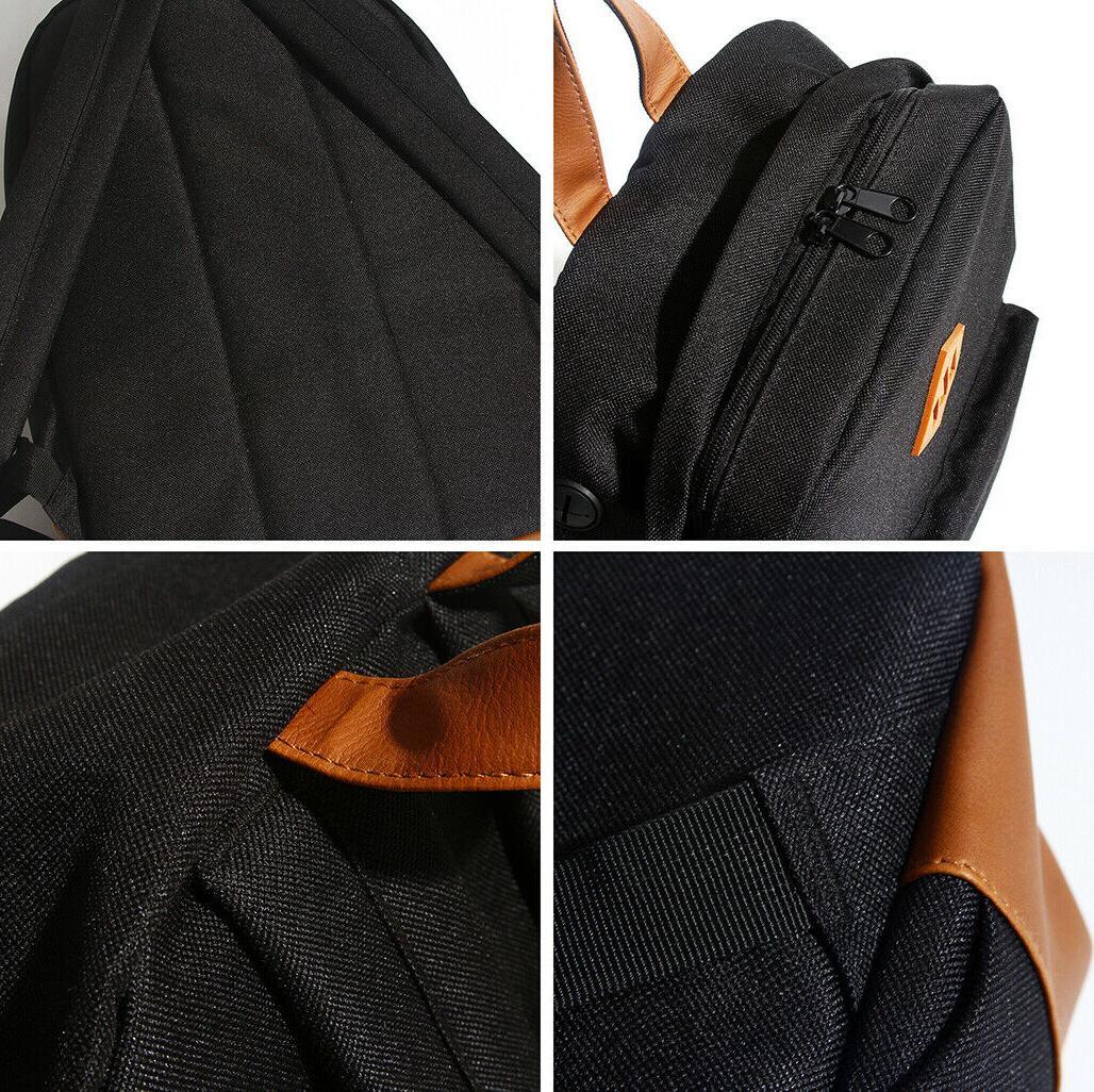 Men's Women's Backpack Laptop Notebook Shoulder College School Bag