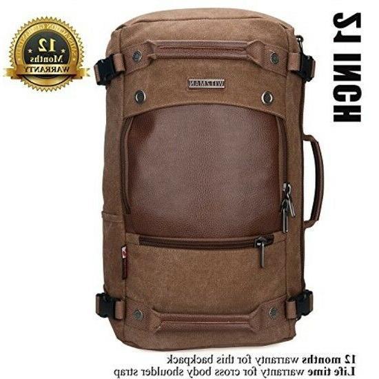 WITZMAN Men Canvas Rucksack Bag 21