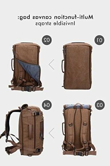 WITZMAN Travel Canvas Rucksack Bag 21 inch
